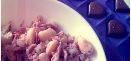 salata fasole ton