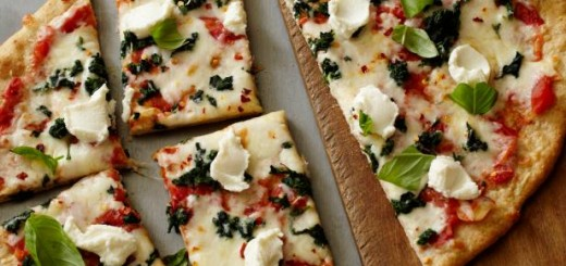 pizza cu spanac si ricotta