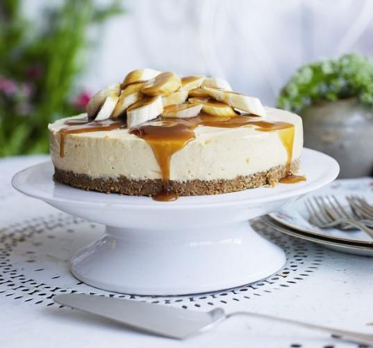 cheesecake cu banane si caramel