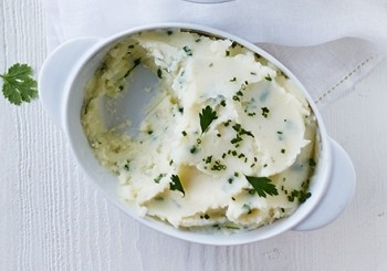 Piure de cartofi cu usturoi si ierburi