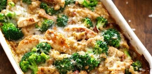 pui cu quinoa si broccoli