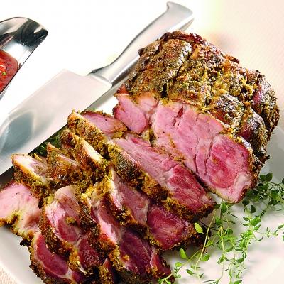 ceafa de porc cu glazura de mustar