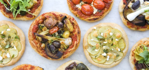 Mini pizza vegetariene