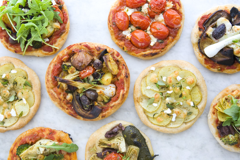 Mini pizza vegetariene
