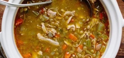 Supa de pui si linte