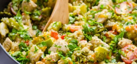 Pui cu quinoa si legume
