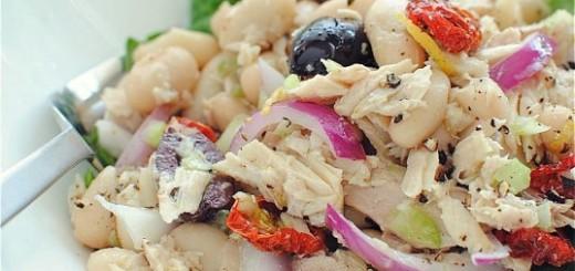 Salata cu ton si fasole alba