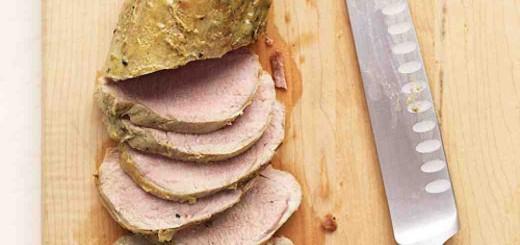 Muschi de porc cu sos de mustar