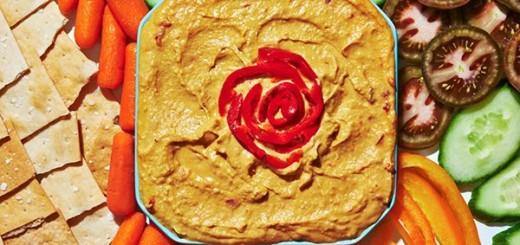 Hummus de ardei copt