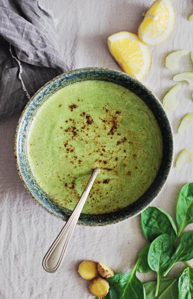 Supa detox cu spanac