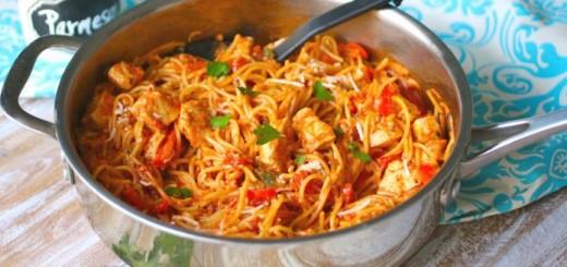 Spaghetti cu pui