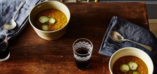 Supa cu linte rosie si zucchini