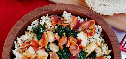 Orez cu pui si bacon
