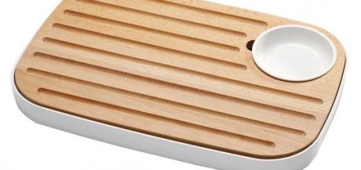 Tocator lemn pentru paine / branza Joseph Joseph