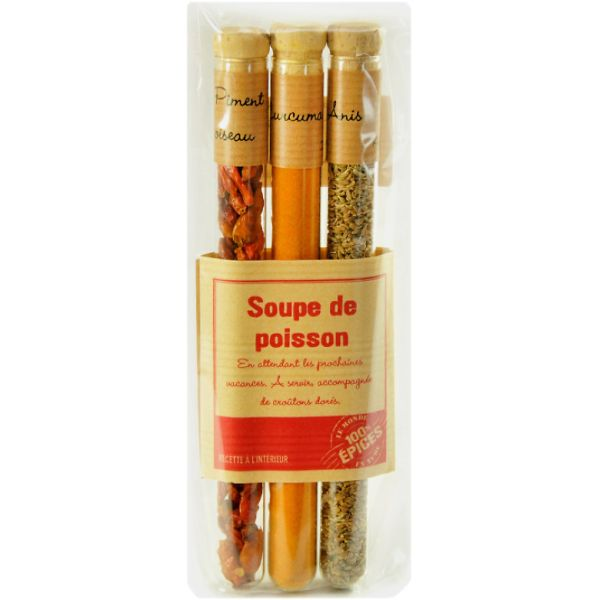 Set mirodenii pentru supa de peste (ardei iute uscat 21g, pudra de curcuma 8g, seminte de anason 14g)