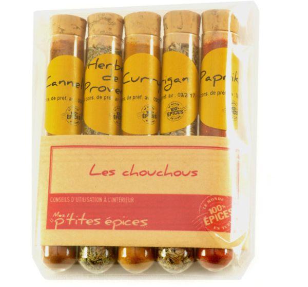 Set mirodenii Les chouchous (scortisoara, curry, ierburi de Provence, boia de ardei dulce, oregano)