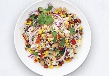 salata de orez si fasole