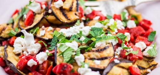 salata vinete la cuptor ardei feta