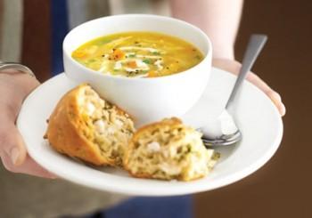 Supa cu pui fript