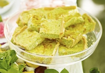 Tarta de mazare si ceapa verde
