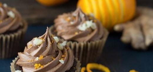 Cupcakes de ciocolata cu ghimbir si portocala