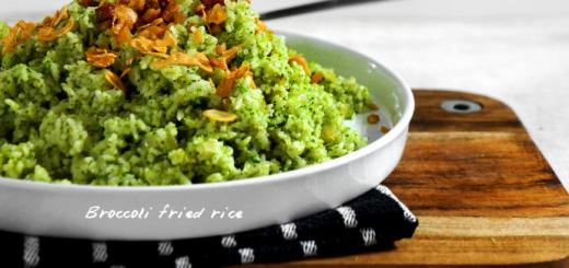 Orez prajit cu piure de broccoli