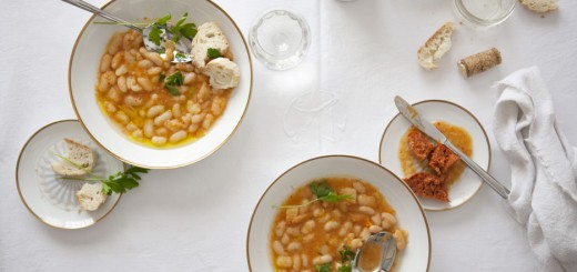 Supa de fasole alba si chorizo