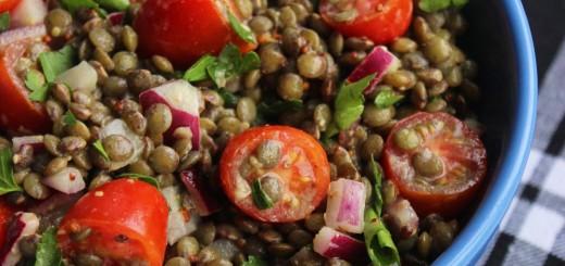 Salata de linte cu mustar si rosii