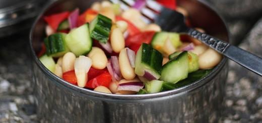 Salata greceasca cu fasole