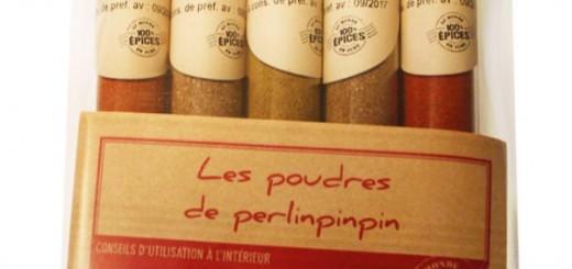 Set mirodenii - Les poudres de perlinpinpin (Massale, cinci condimente chinezesti, chili, Tandoori, Colombo)